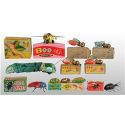 Lot of 9: Insect Wind-Up Toys.