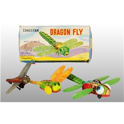 Lot of 3: Dragonfly Wind-Up & Friction Toys.