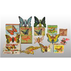 Lot of 8: Butterfly Toys.