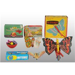 Lot of 5: Butterfly Toys.