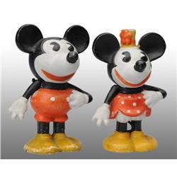 Disney Mickey & Minnie Mouse Toothbrush Holders.