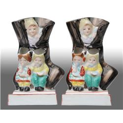 Lot of 2: Old Lady in Shoe Toothbrush Holders.