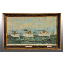 Framed Boat and Ship Puzzle.