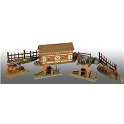 Wooden Toy Arc with Accessories.