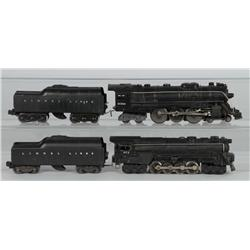Lot of 2: Lionel Steam Engines & Tenders.