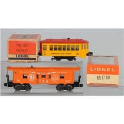Lot of 2: Lionel Rapid Transit Trolley & Caboose.