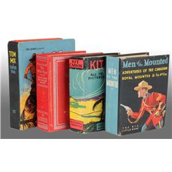 Lot of 4: Western Themed Big Little Books.