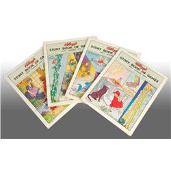 Set of 4: Kellogg's Storybook of Games Books.