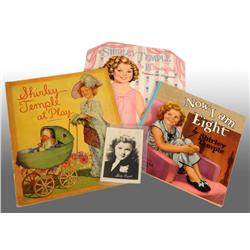 Lot of 4: Shirley Temple Items.