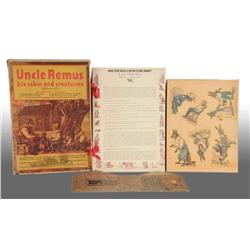 Uncle Remus His Cabin & Creatures Play Set.