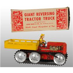 Tin Marx Tractor Truck Wind-Up Toy.