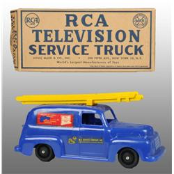 Plastic Marx RCA Television Service Truck Toy.