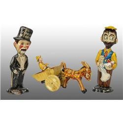 Lot of 3: Tin Marx Character Wind-Up Toys.