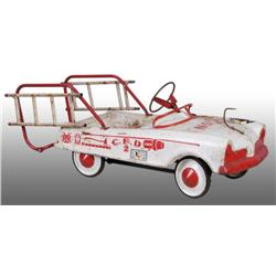 Pressed Steel Fire Truck Pedal Car.