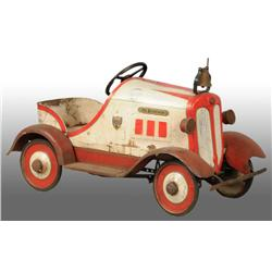 Pressed Steel Dodge Brothers Fire Chief Pedal Car.
