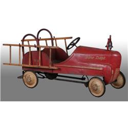 Pressed Steel Gendron Fire Truck Pedal Car.