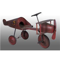 Pressed Steel No. 5 US Mail Bi-Wing Pedal Plane.