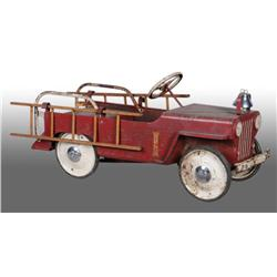 Pressed Steel Sherwood Fire Truck Pedal Car.