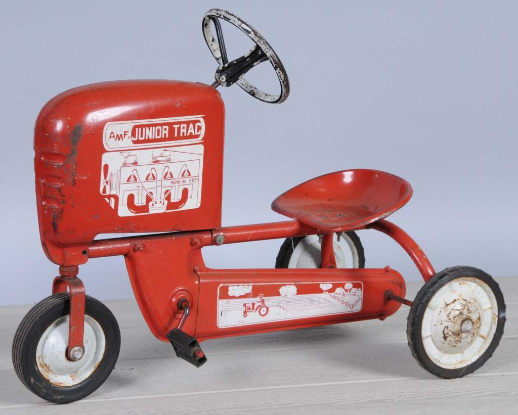 Junior Pedal Tractors Antique : Pressed steel amf junior tractor pedal car
