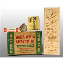 Lot of 5: Assorted Walla-Walla Gum Items.