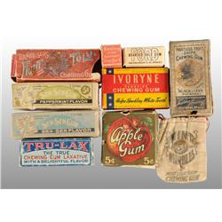 Lot of 10: Assorted Gum Items.