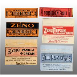 Lot of 6: Zeno Gum Wrappers.