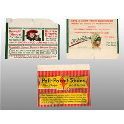 Lot of 3: Paper Gum Wrappers.