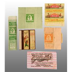 Lot of 6: Assorted Gum Wrappers.