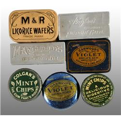 Lot of 7: Assorted Gum Tins.