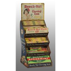 Tin Beech-Nut Gum Display with Marquee.