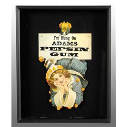 Adams Gum Die-Cut Sign Featuring Female Clown.
