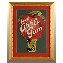 Framed Juicy Apple Gum Die-Cut Fan.