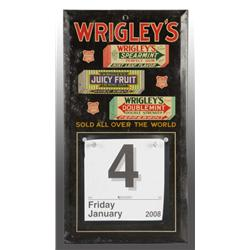 Tin over Cardboard Wrigley's Gum Calendar Holder.