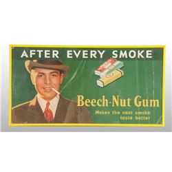 Beech-Nut After Smoking Gum Sign.