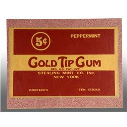 Gold Tip 5-Cents Gum Sign for Peppermint.