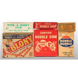Lot of 6: Cardboard Gum Boxes.