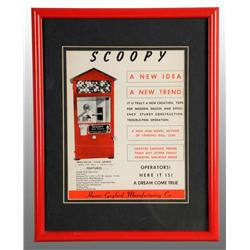 Paper Scoopy Gum Vending Machine Advertisement.