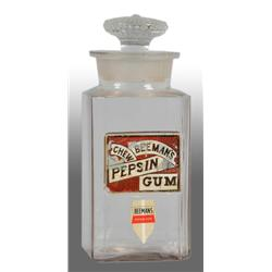 Beeman's Gum Jar with Lid.
