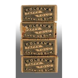 Lot of 4: Colgan's Taffy Tolu Gum Sticks.
