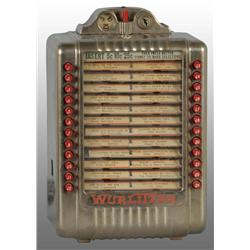 Electric Wurlitzer Juke Box with Impulse Stepper.