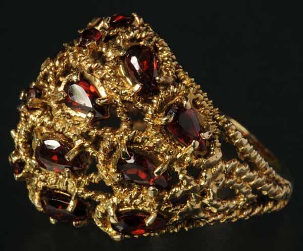 Antique Jewelry 14k Gold Ruby Ring