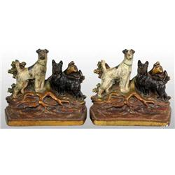 Wirehaired Terrier and Scottie Terrier Bookends.