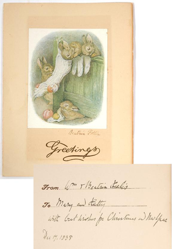 Beatrix potter signed greeting card image 1 beatrix potter signed greeting card m4hsunfo