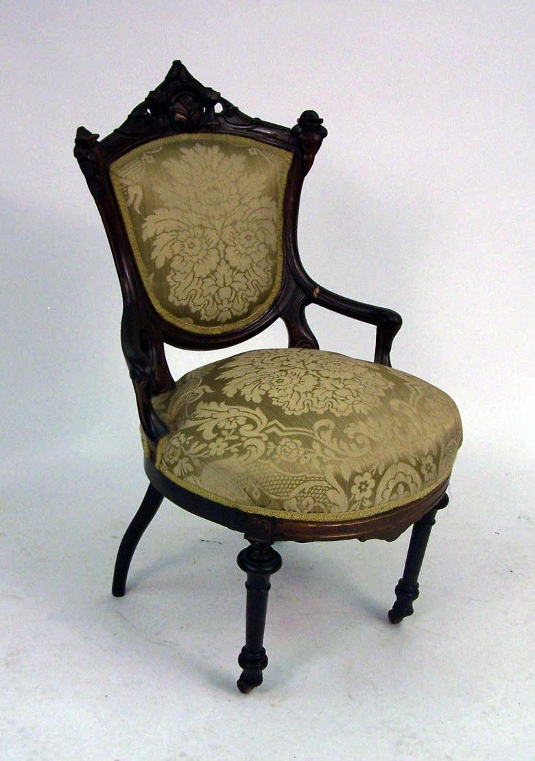 Wonderful A VICTORIAN CARVED AND PARCEL GILT ROSEWOOD SIDE CHAIR. Loading Zoom