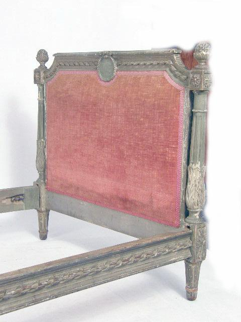 a louis xvi style carved and painted beechwood lit d alcove. Black Bedroom Furniture Sets. Home Design Ideas