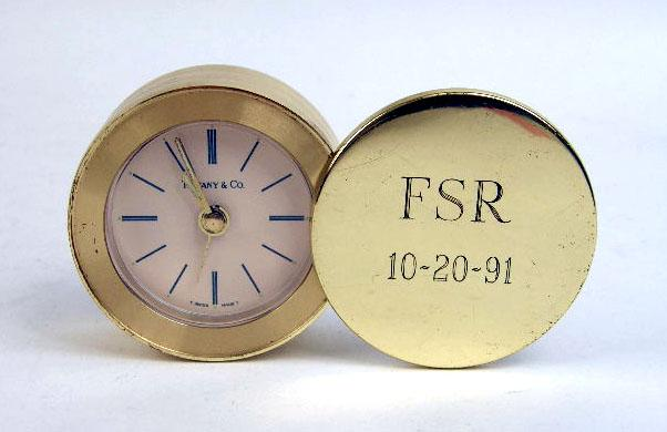 BRASS TRAVEL ALARM CLOCK