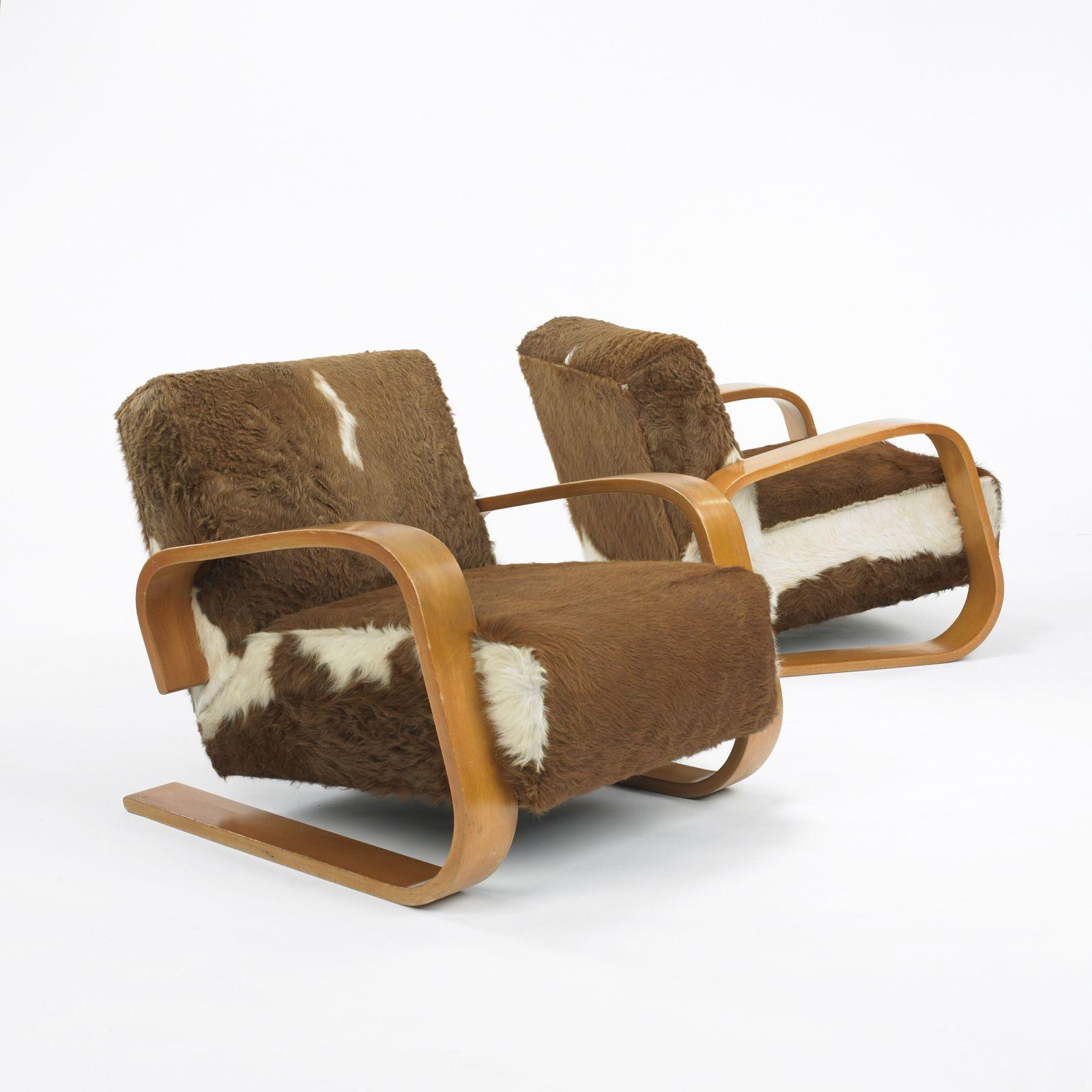 Armchair 400 � Tank� Lounge Chairs From Artek: Alvar Aalto Tank Lounge Chairs Model 37/400, Pair