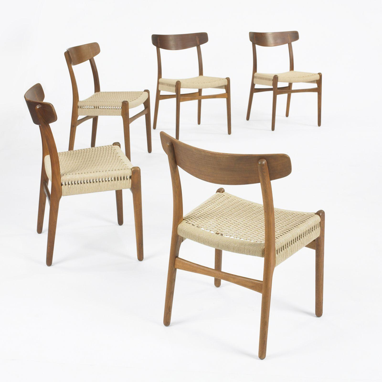 Hans Wegner dining chairs model CH23 set of ten