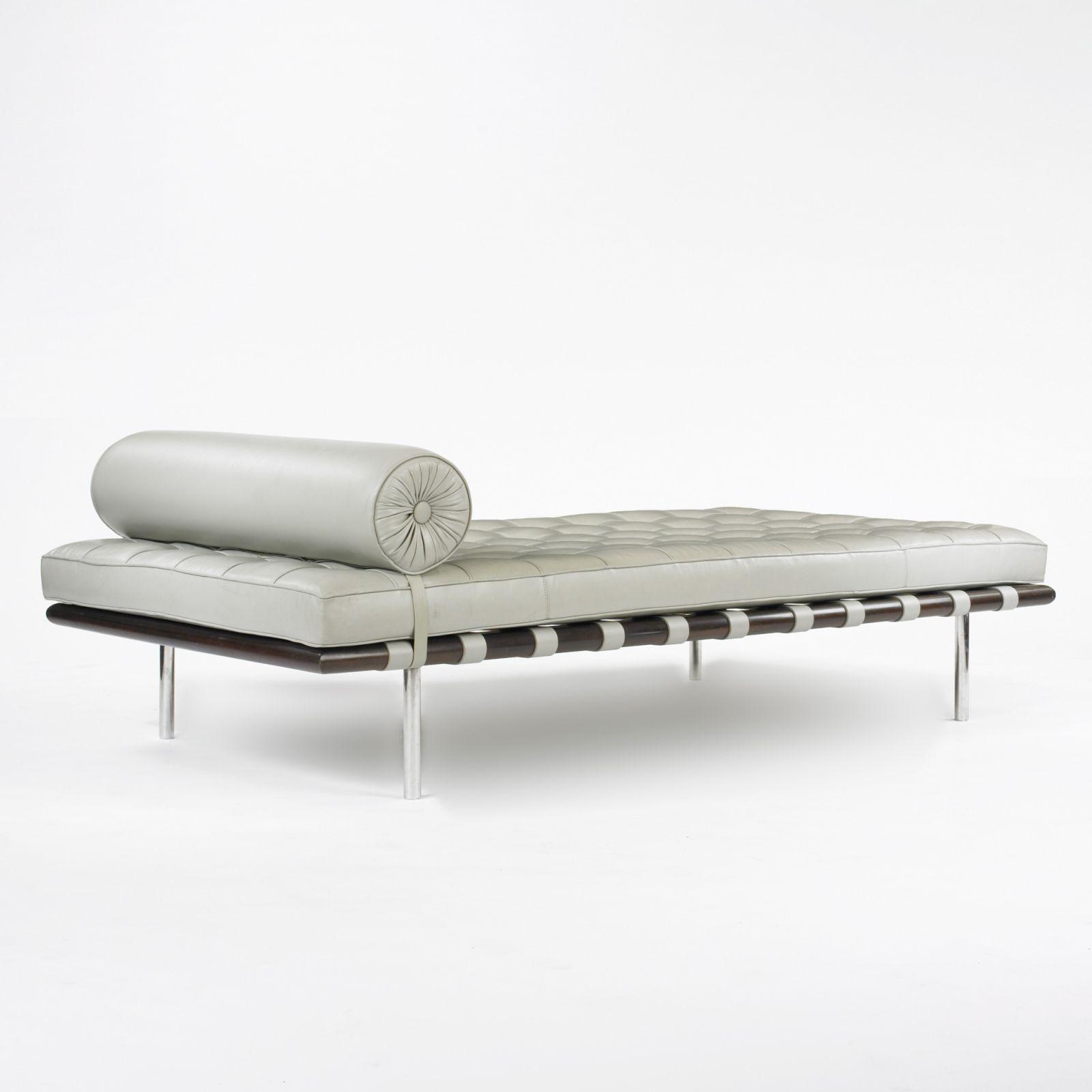wright of auctions june couch rohe auction daybed design ludwig der mies van barcelona