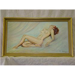 Oil Painting of Nude Laying Down - Paul Meinberg